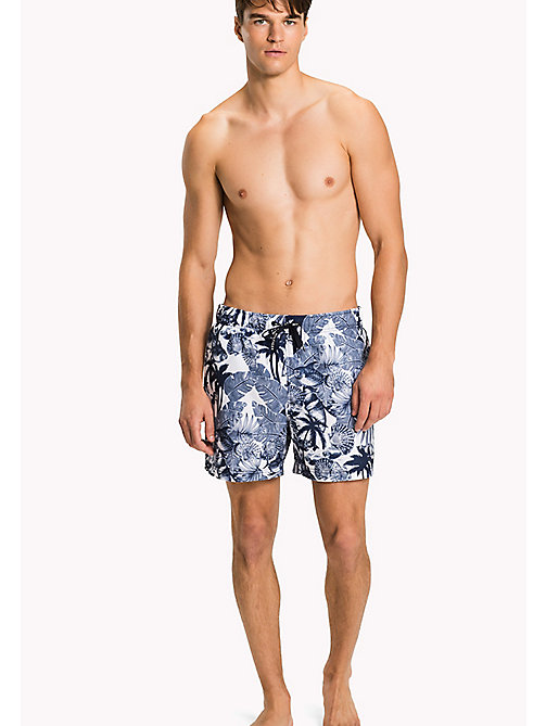 TOMMY HILFIGER Tropical Print Swim Shorts - CORE HAWAII FISH BRIGHT WHITE - NAVY BLA - TOMMY HILFIGER Underwear & Loungewear - main image