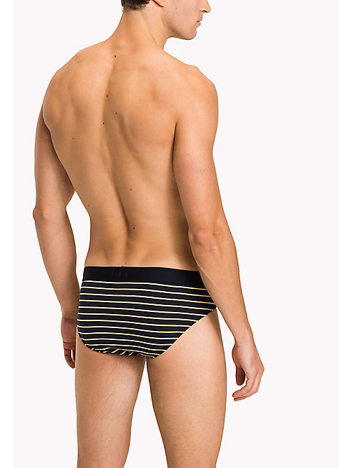 TOMMY HILFIGER Cotton Stripe Briefs - YELLOW CREAM - TOMMY HILFIGER Briefs - detail image 1