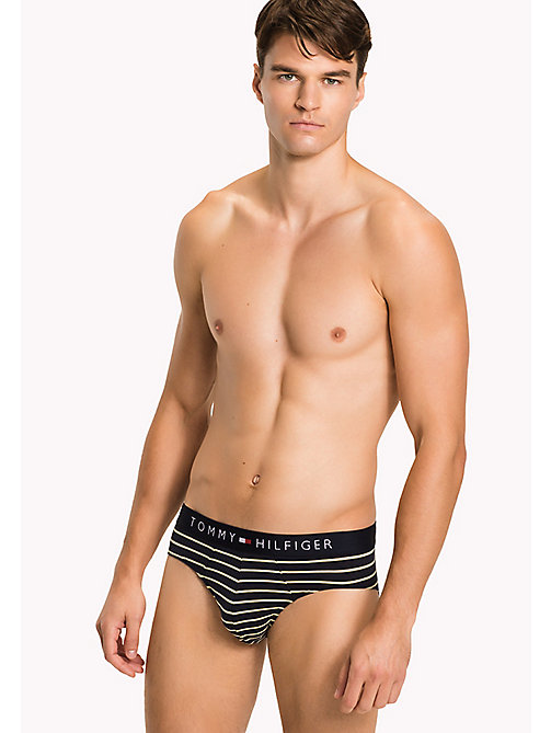TOMMY HILFIGER Cotton Stripe Briefs - YELLOW CREAM - TOMMY HILFIGER Briefs - main image