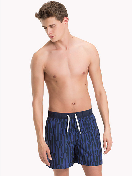 TOMMY HILFIGER Medium Stars and Stripes Swimshorts - STAR PRINT TWILIGHT BLUE - TOMMY HILFIGER Swimwear - main image