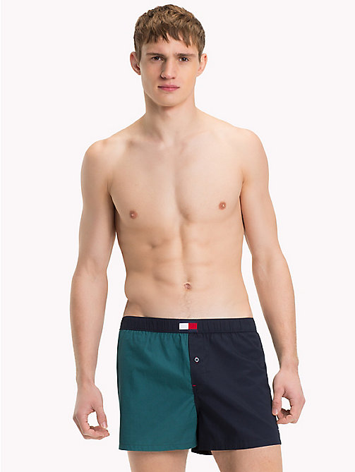 TOMMY HILFIGER Colour-blocked boxershort - ATLANTIC DEEP - TOMMY HILFIGER Pyjama's & Lounge - main image