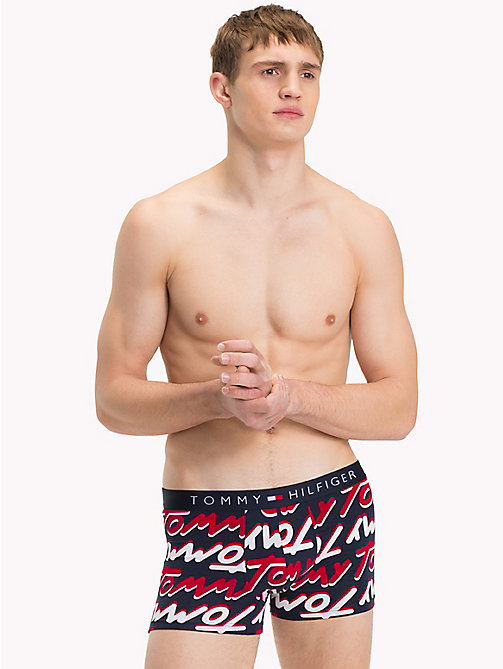 TOMMY HILFIGER Signature Print Trunks - NAVY BLAZER - TOMMY HILFIGER Underwear & Swimwear - main image
