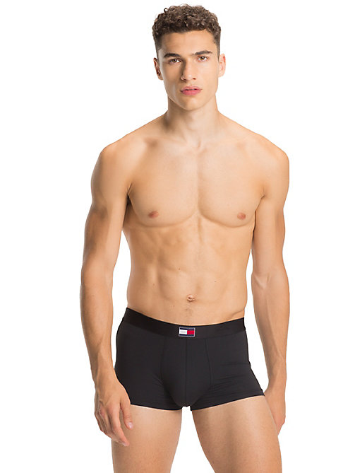TOMMY HILFIGER Low Rise Flag Trunks - BLACK - TOMMY HILFIGER Trunks - main image
