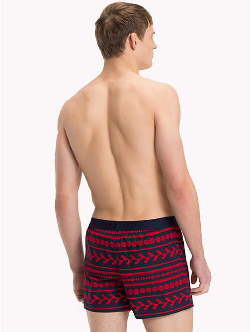 TOMMY HILFIGER Folksy Print Boxer Shorts - TANGO RED - TOMMY HILFIGER Loungewear & Underwear - detail image 1