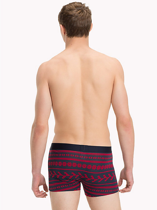 TOMMY HILFIGER Folk Print Trunks - TANGO RED - TOMMY HILFIGER Loungewear & Underwear - detail image 1