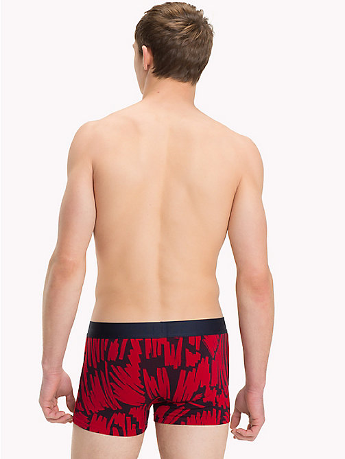 TOMMY HILFIGER Brush Print Trunks - POMPEIAN RED - TOMMY HILFIGER Underwear & Swimwear - detail image 1