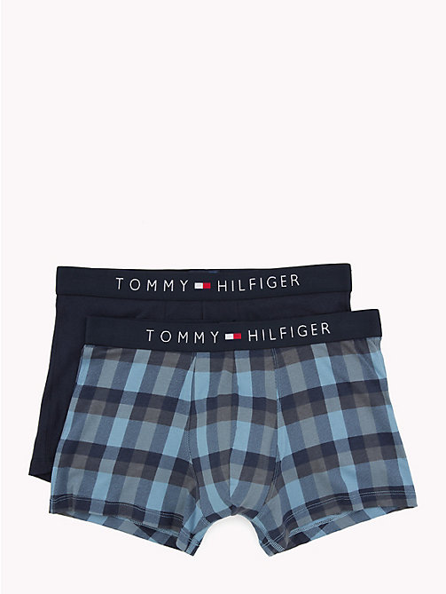 TOMMY HILFIGER Check and Plain Trunk 2-Pack - BLUE HEAVEN/ NAVY BLAZER - TOMMY HILFIGER Packs - main image