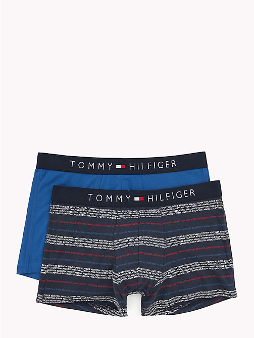 TOMMY HILFIGER 2-Pack Stretch Cotton Trunks - CLASSIC BLUE/NAVY BLAZER - TOMMY HILFIGER Packs - main image