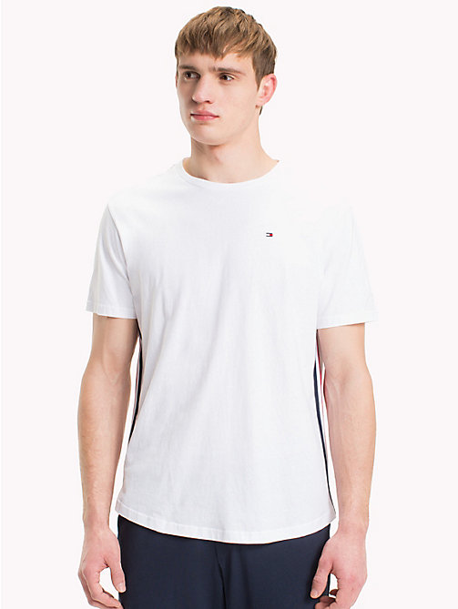 TOMMY HILFIGER T-shirt en coton bio - WHITE - TOMMY HILFIGER Sustainable Evolution - image principale