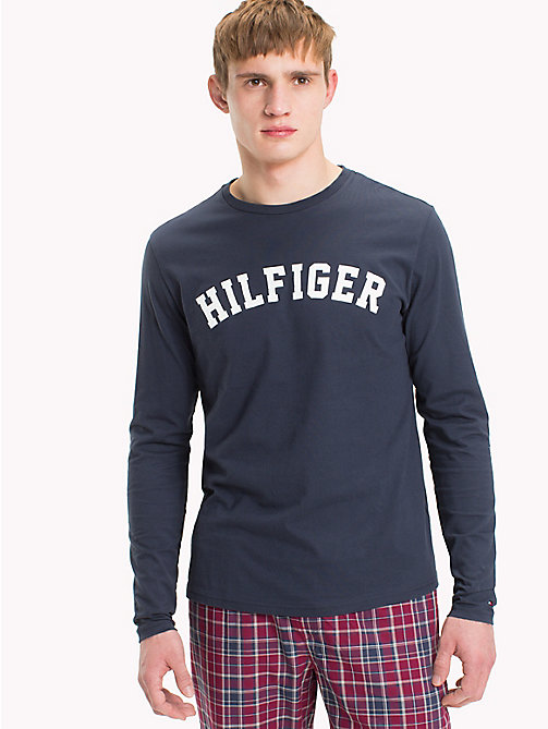 TOMMY HILFIGER Maglia in cotone biologico - NAVY BLAZER - TOMMY HILFIGER Sustainable Evolution - immagine principale