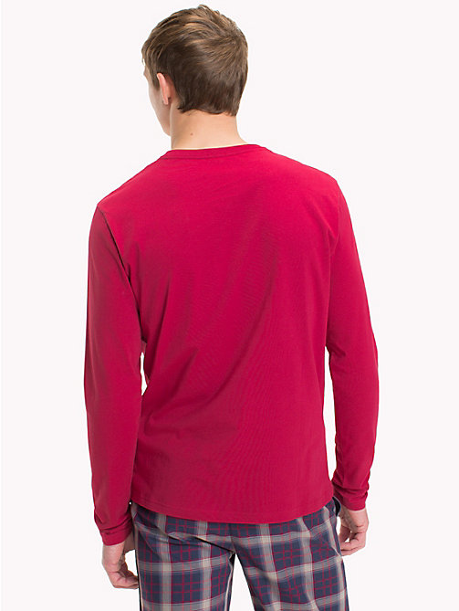 TOMMY HILFIGER T-shirt en coton bio - DEEP CLARET - TOMMY HILFIGER Sustainable Evolution - image détaillée 1