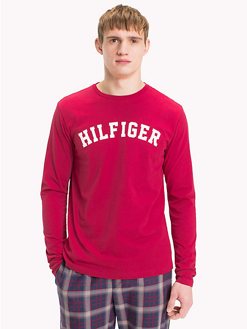 TOMMY HILFIGER T-shirt en coton bio - DEEP CLARET - TOMMY HILFIGER Sustainable Evolution - image principale