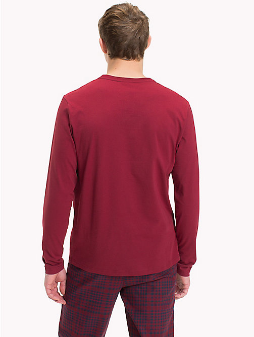 TOMMY HILFIGER T-shirt en coton bio - POMEGRANATE - TOMMY HILFIGER Sustainable Evolution - image détaillée 1
