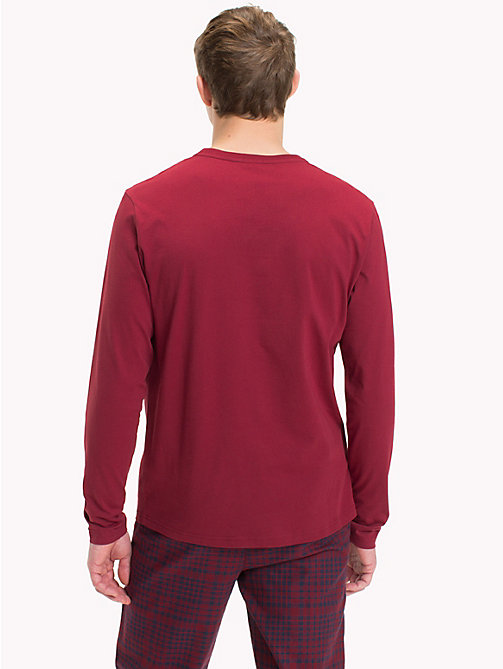 TOMMY HILFIGER T-Shirt aus Bio-Baumwolle - POMEGRANATE - TOMMY HILFIGER Sustainable Evolution - main image 1