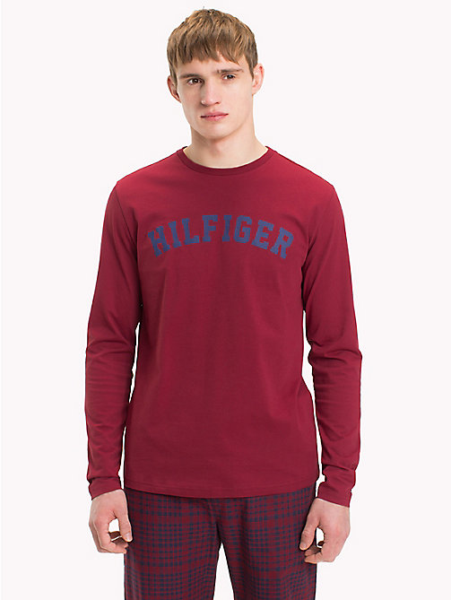 TOMMY HILFIGER Organic Cotton T-Shirt - POMEGRANATE - TOMMY HILFIGER Sustainable Evolution - main image