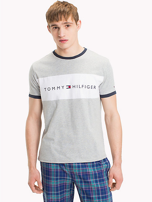 TOMMY HILFIGER Tommy Hilfiger Logo T-Shirt - GREY HEATHER - TOMMY HILFIGER Sustainable Evolution - main image