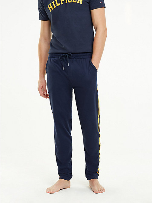 TOMMY HILFIGER Logo Tape Tracksuit Bottoms - NAVY BLAZER - TOMMY HILFIGER Pyjama Bottoms - main image