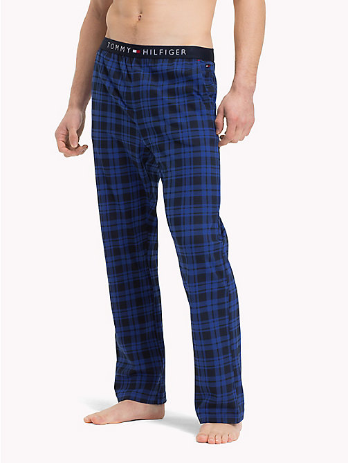 TOMMY HILFIGER Check Jersey Pyjama Bottoms - NAVY BLAZER - TOMMY HILFIGER Pyjama Bottoms - main image