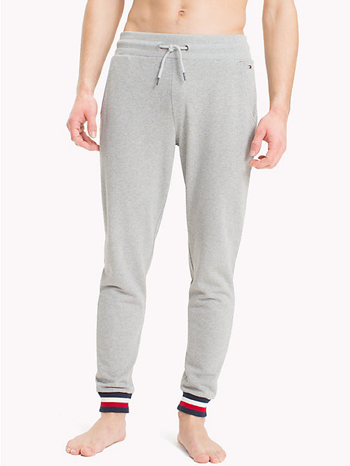 TOMMY HILFIGER Pantalon de survêtement à bande emblématique - GREY HEATHER - TOMMY HILFIGER Sustainable Evolution - image principale
