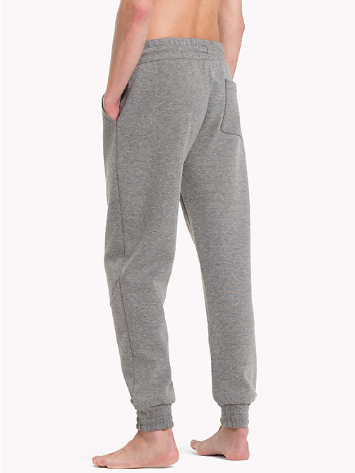 TOMMY HILFIGER Cotton Tapered Joggers - GREY HEATHER - TOMMY HILFIGER Pyjama Bottoms - detail image 1
