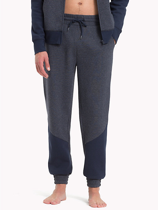 TOMMY HILFIGER Cotton Tapered Joggers - NAVY BLAZER - TOMMY HILFIGER Loungewear & Underwear - main image