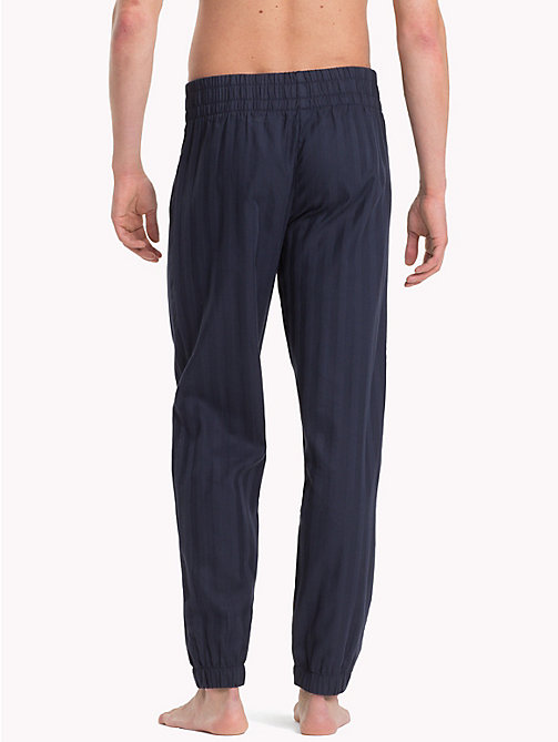 TOMMY HILFIGER Woven Cotton Casual Bottoms - NAVY BLAZER - TOMMY HILFIGER Loungewear & Underwear - detail image 1