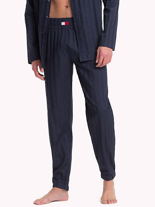 TOMMY HILFIGER Woven Cotton Casual Bottoms - NAVY BLAZER - TOMMY HILFIGER Loungewear & Underwear - main image