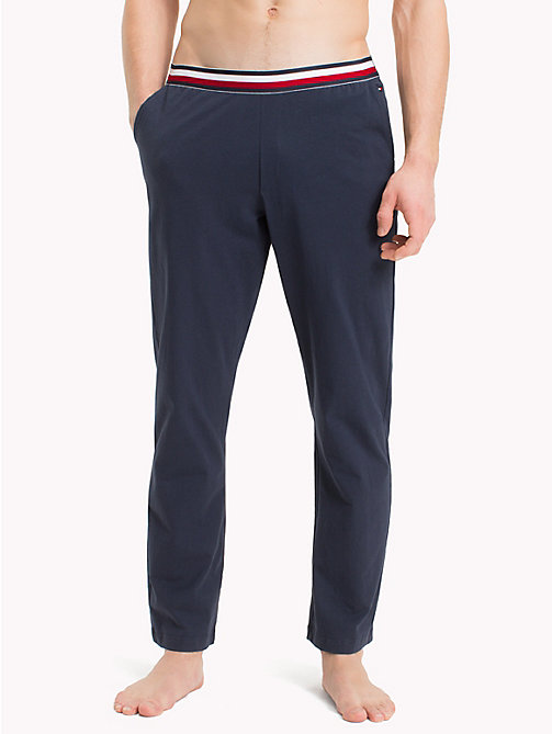 TOMMY HILFIGER Signature Tape Waistband Bottoms - NAVY BLAZER - TOMMY HILFIGER Loungewear & Underwear - main image