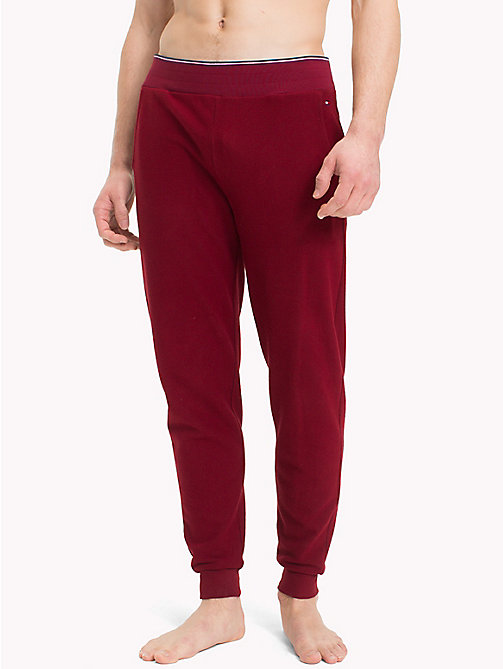 TOMMY HILFIGER Elasticated Waist Fleece Bottoms - POMEGRANATE - TOMMY HILFIGER Underwear & Swimwear - main image