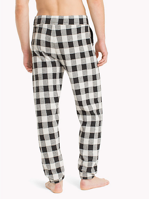 TOMMY HILFIGER Gingham Check Print Bottoms - BLACK - TOMMY HILFIGER Loungewear & Underwear - detail image 1