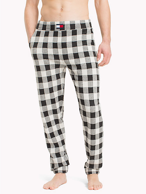 TOMMY HILFIGER Gingham Check Print Bottoms - BLACK - TOMMY HILFIGER Loungewear & Underwear - main image
