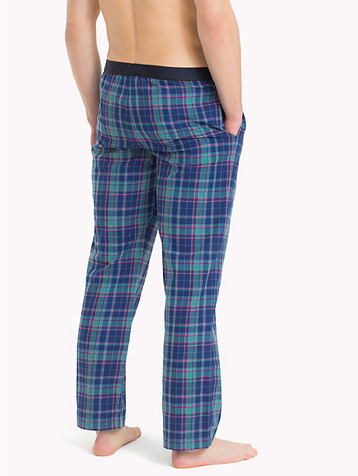 TOMMY HILFIGER Check Print Cotton Bottoms - SODALITE BLUE - TOMMY HILFIGER Pyjama Bottoms - detail image 1