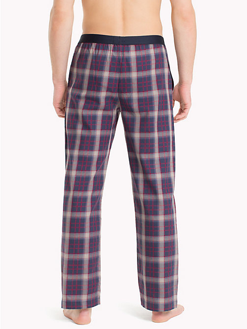 TOMMY HILFIGER Check Print Cotton Bottoms - NAVY BLAZER - TOMMY HILFIGER Loungewear & Underwear - detail image 1