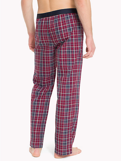 TOMMY HILFIGER Check Print Cotton Bottoms - DEEP CLARET - TOMMY HILFIGER Loungewear & Underwear - detail image 1