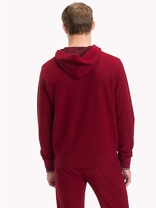 TOMMY HILFIGER Double Side Fleece Hoody - POMEGRANATE - TOMMY HILFIGER Loungewear & Underwear - detail image 1