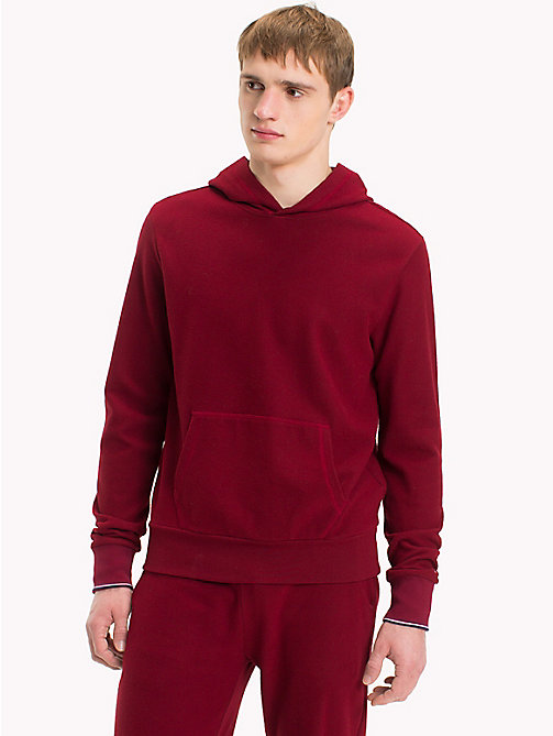 TOMMY HILFIGER Double Side Fleece Hoody - POMEGRANATE - TOMMY HILFIGER Loungewear & Underwear - main image