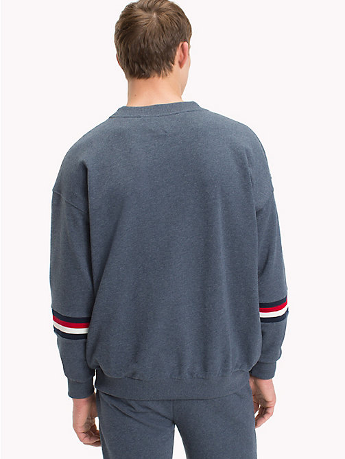 TOMMY HILFIGER Monogram Logo Crew Neck Sweashirt - NAVY BLAZER - TOMMY HILFIGER Sustainable Evolution - detail image 1