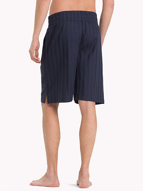 TOMMY HILFIGER Woven Cotton Shorts - NAVY BLAZER - TOMMY HILFIGER Loungewear & Underwear - detail image 1
