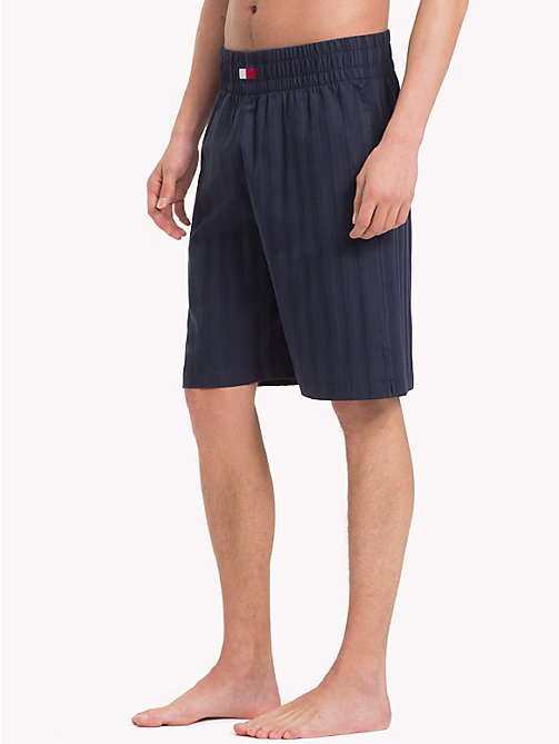 TOMMY HILFIGER Woven Cotton Shorts - NAVY BLAZER - TOMMY HILFIGER Loungewear & Underwear - main image