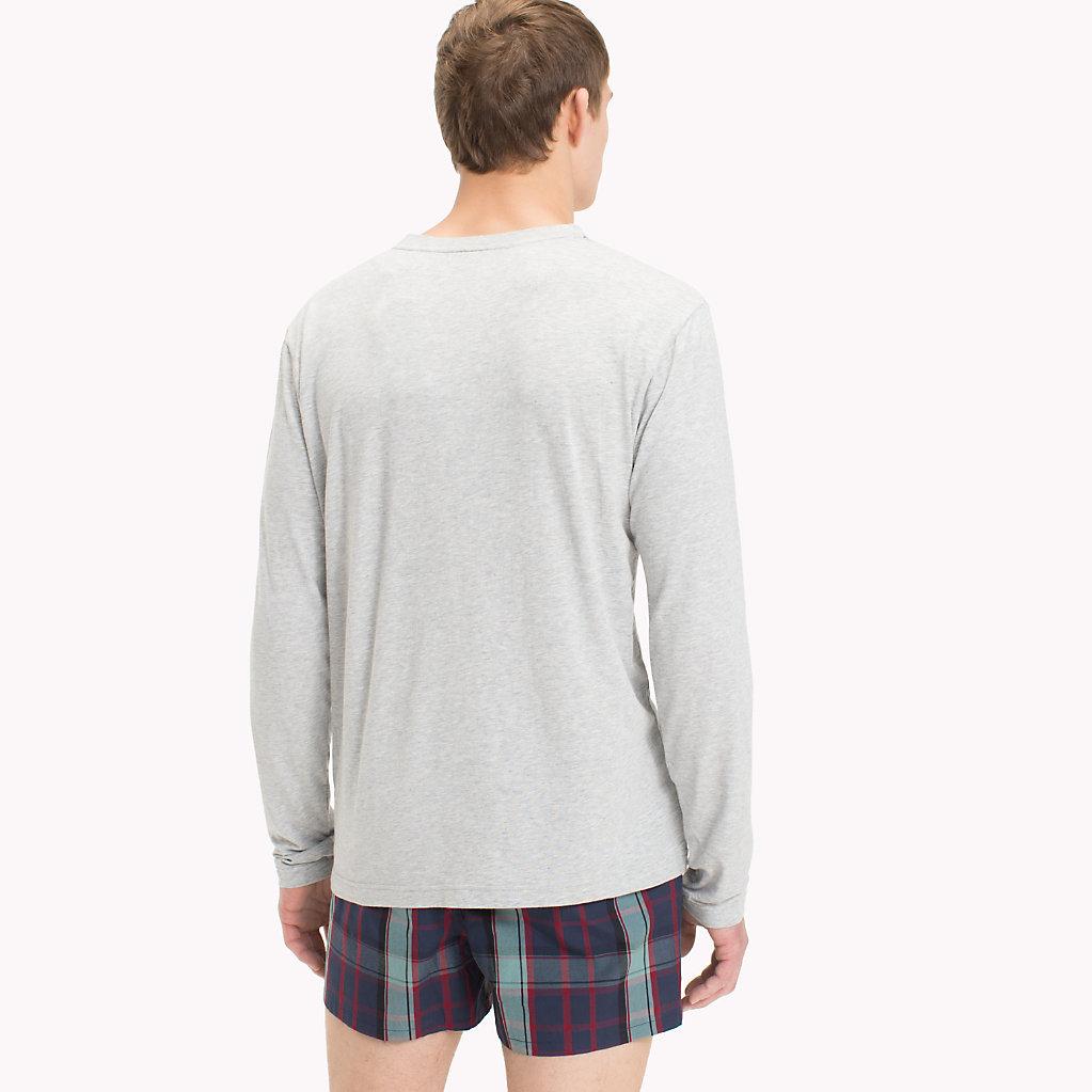 Tommy Hilfiger - Camiseta de cuello panadero de manga larga - 2