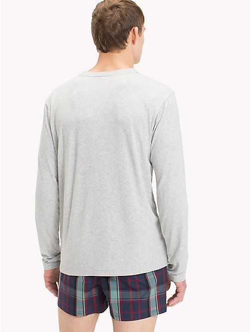 TOMMY HILFIGER Long-Sleeve Henley T-Shirt - GREY HEATHER - TOMMY HILFIGER Pyjama Tops - detail image 1