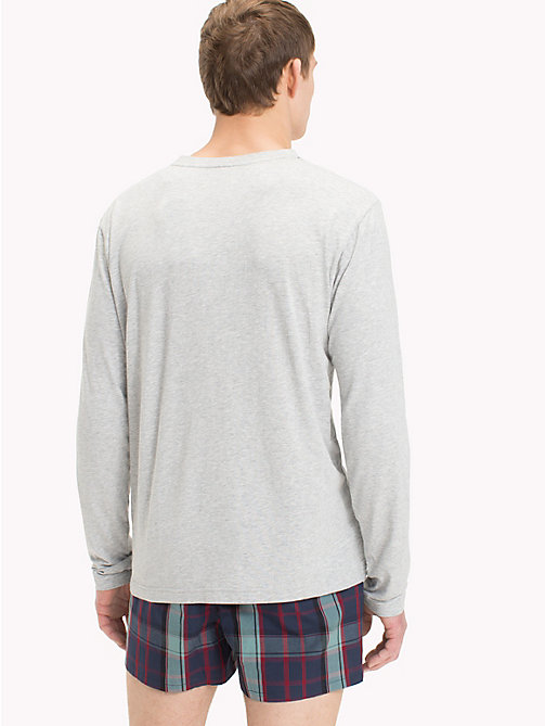 TOMMY HILFIGER Футболка с планкой на пуговицах - GREY HEATHER - TOMMY HILFIGER Топы - подробное изображение 1