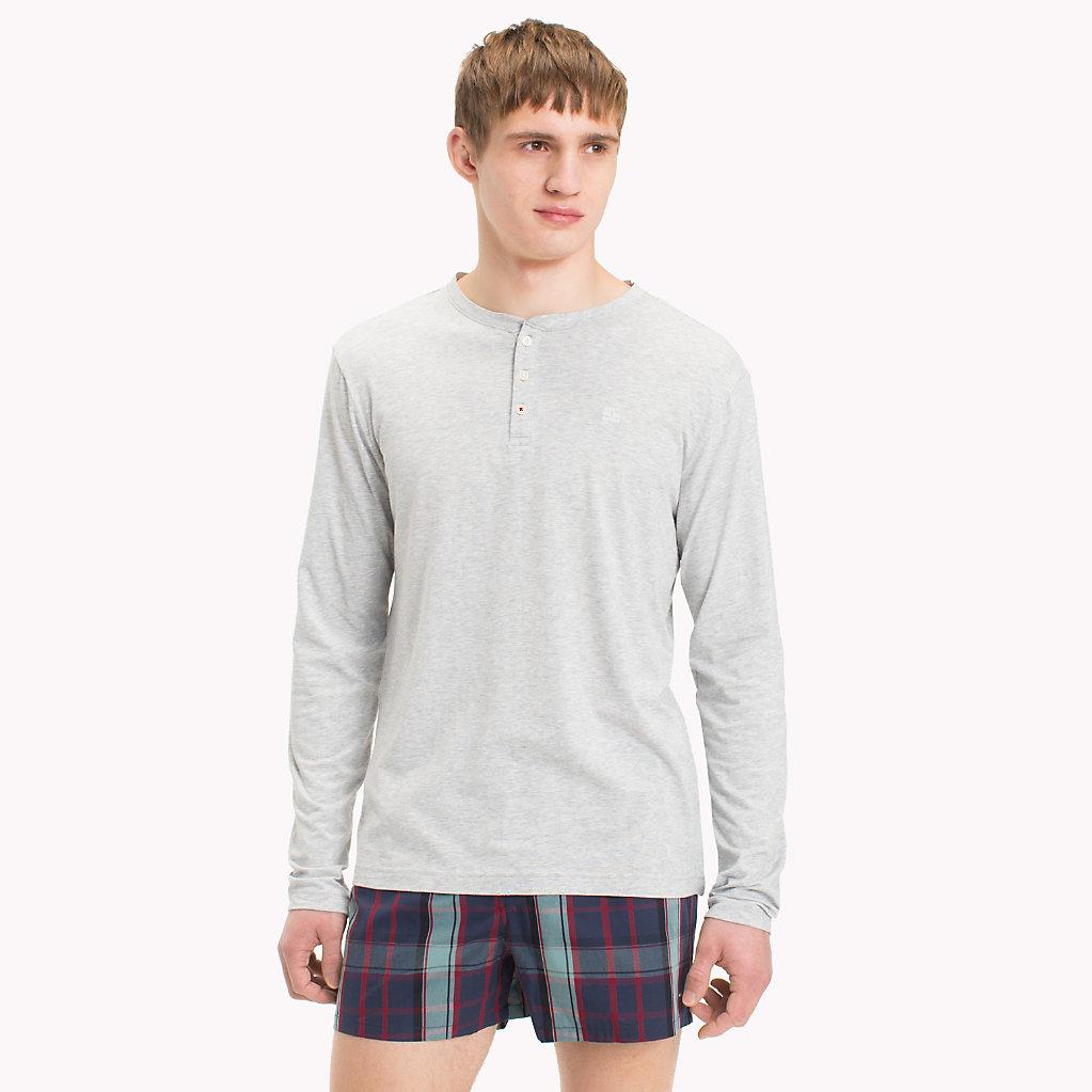 Tommy Hilfiger - Camiseta de cuello panadero de manga larga - 1