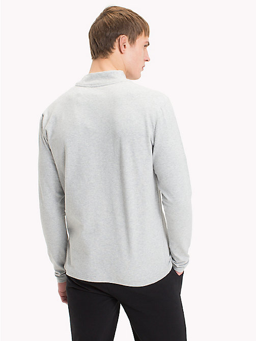 TOMMY HILFIGER Mock Neck Sweatshirt - GREY HEATHER - TOMMY HILFIGER Pyjama Tops - detail image 1