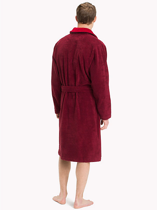 TOMMY HILFIGER Shawl Collar Bathrobe - POMEGRANATE - TOMMY HILFIGER Loungewear & Underwear - detail image 1