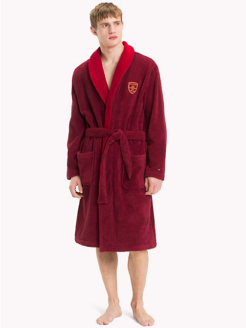 TOMMY HILFIGER Shawl Collar Bathrobe - POMEGRANATE - TOMMY HILFIGER Underwear & Swimwear - main image