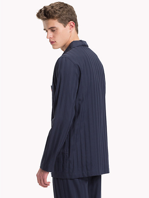 TOMMY HILFIGER All-Over Stripe Shirt - NAVY BLAZER - TOMMY HILFIGER Loungewear & Underwear - detail image 1