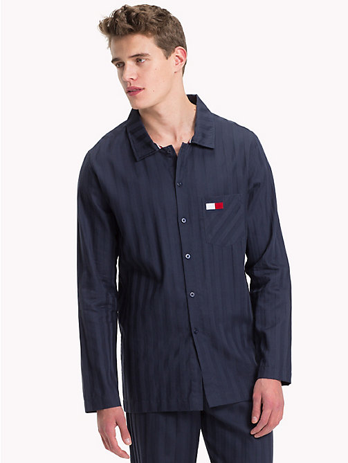 TOMMY HILFIGER All-Over Stripe Shirt - NAVY BLAZER - TOMMY HILFIGER Loungewear & Underwear - main image