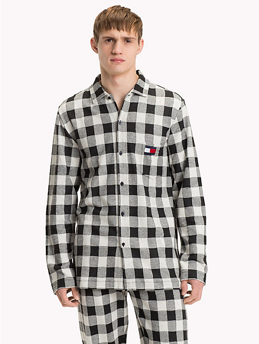 TOMMY HILFIGER Gingham Check Shirt - BLACK/ BLACK - TOMMY HILFIGER Loungewear & Underwear - main image