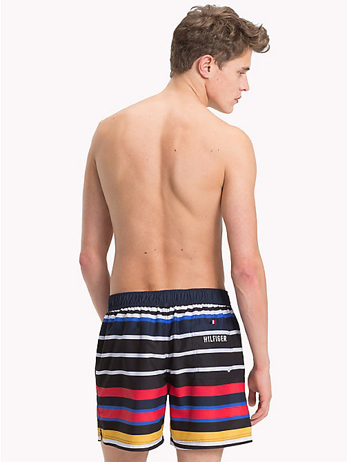 TOMMY HILFIGER Multi-Colour Stripe Medium Swim Shorts - DESERT EXPLORER MULTI STRIPE - TOMMY HILFIGER Swimwear - detail image 1